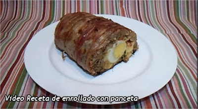 Vídeo receta de enrollado de carne con panceta