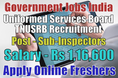 TNUSRB Recruitment 2018