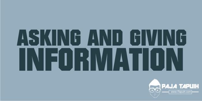3 Contoh Dialog Bahasa Inggris Asking Information