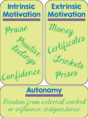 Intrinsic motivation vs. extrinsic motivation vs. autonomy