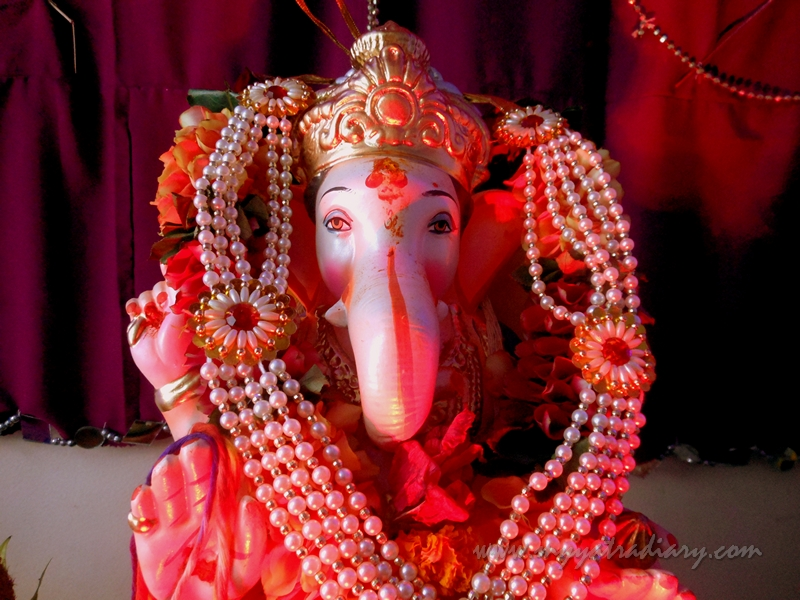 Up close lovely Home Ganesha in Mumbai, Ganesh Chaturthi festival