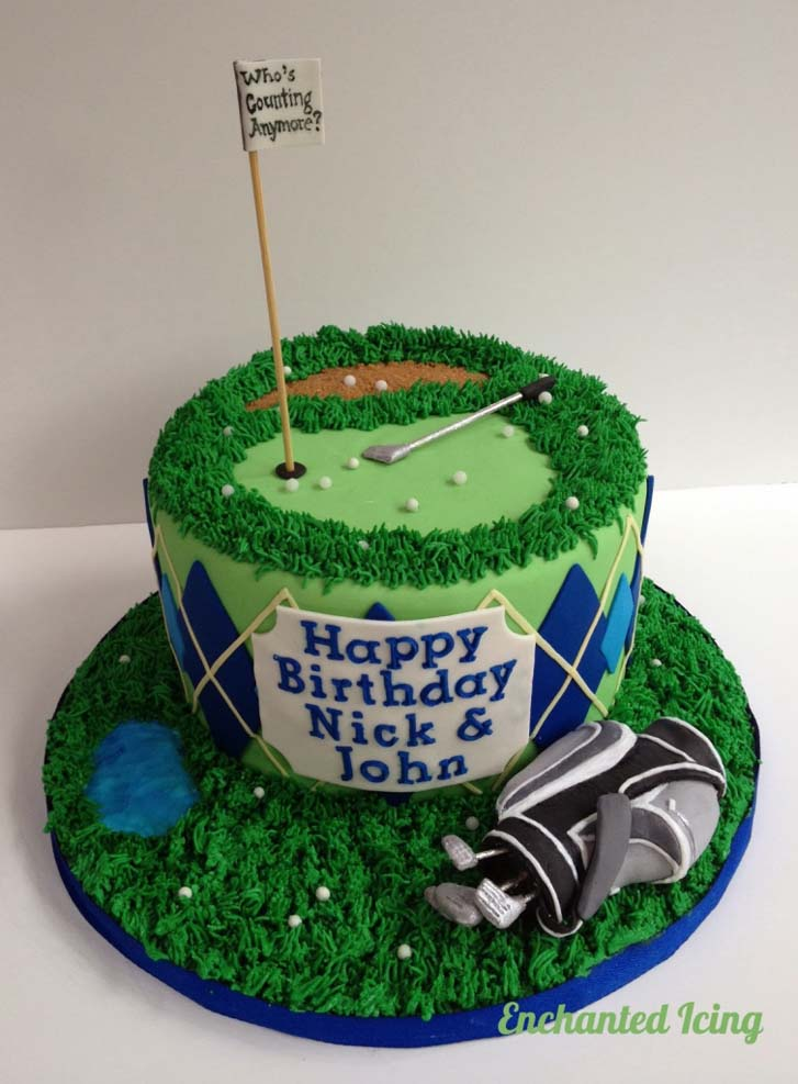 Remarkable 7 Awesome Golf Birthday Cakes Funny Birthday Cards Online Eattedamsfinfo