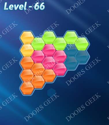 Block! Hexa Puzzle [5 Mania] Level 66 Solution, Cheats, Walkthrough for android, iphone, ipad, ipod