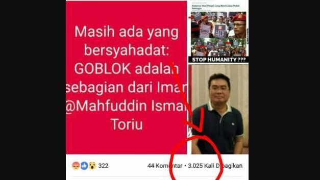 Facebooker Plesetkan Kalimat Syahadat Terancam 6 Tahun Penjara