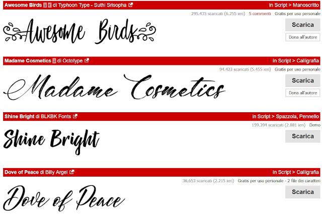 Dafont: font gratis da scaricare