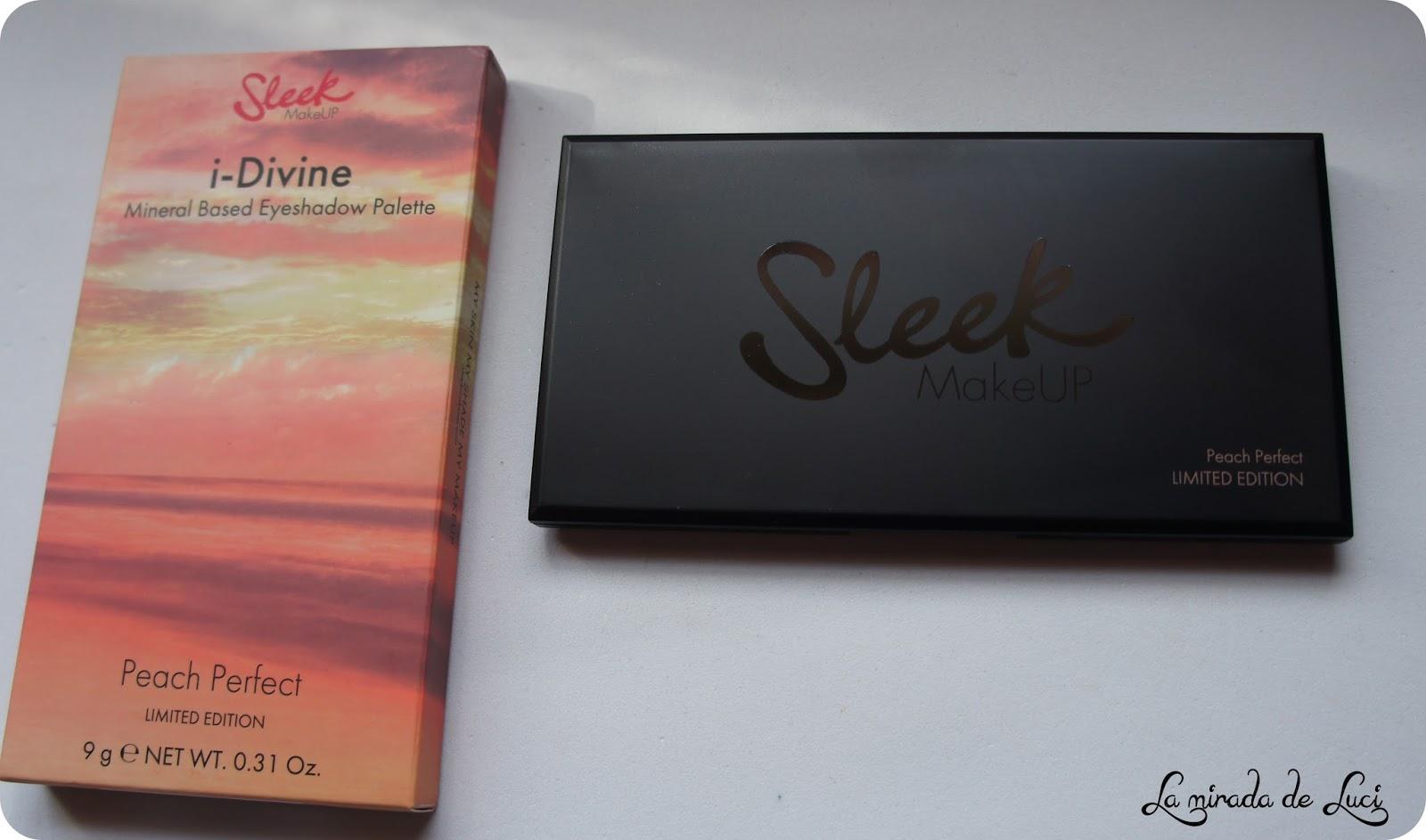 LA MIRADA DE LUCI: SLEEK, paleta i-Divine, E.L. Peach Perfect.