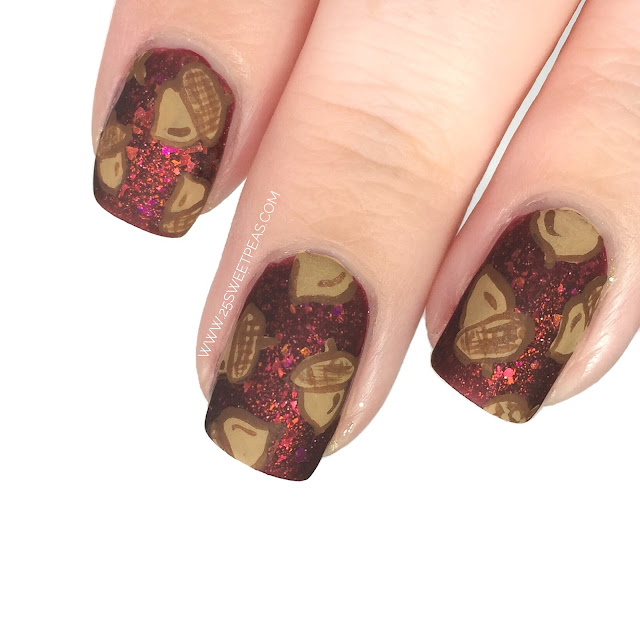 Acorn Nail Art