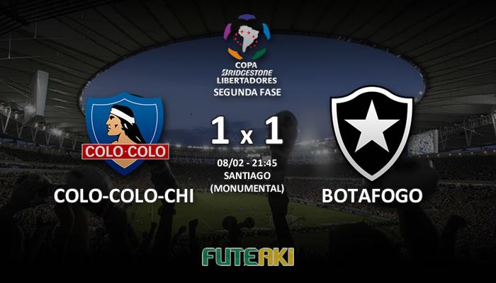 Veja o resumo da partida com os gols e os melhores momentos de Colo-Colo-CHI 1x1 Botafogo pela Segunda Fase da Libertadores 2017.
