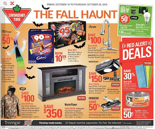Canadian Tire Flyer Weekly - The Fall Haunt October 19 - 25