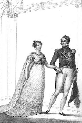 The marriage of Princess Charlotte   to Prince Leopold of Saxe-Coburg  from La Belle Assemblée (1816)