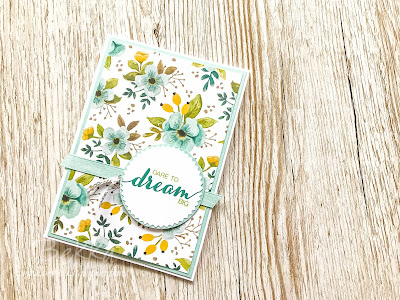Floral Dare to Dream Congratulations Card.  Buy Stampin' Up! here in the UK