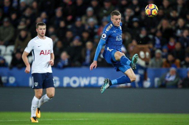Jamie Vardy scores stunning goal Leicester 2-1 Tottenham