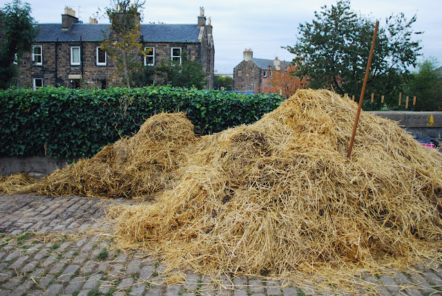 Pile of hay - Gorgie City Farm