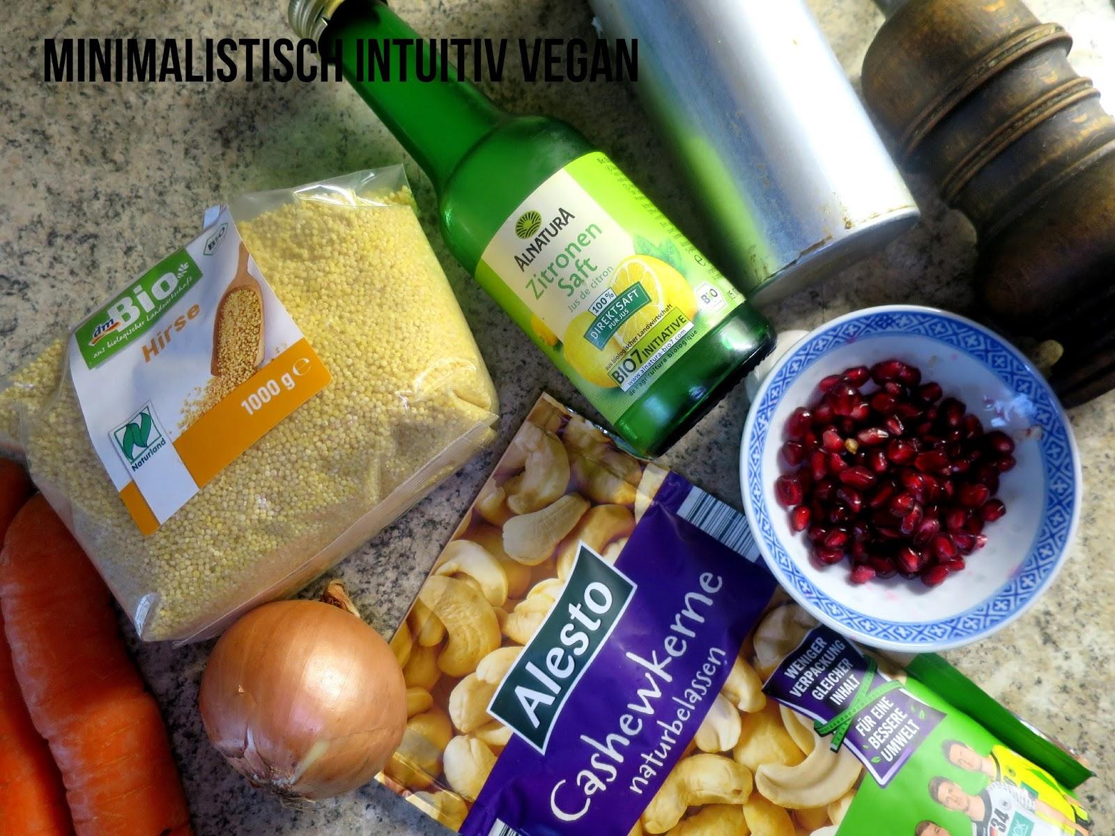 Hirsesalat mit karotte und cashewso e minimalistisch for Minimalistisch essen