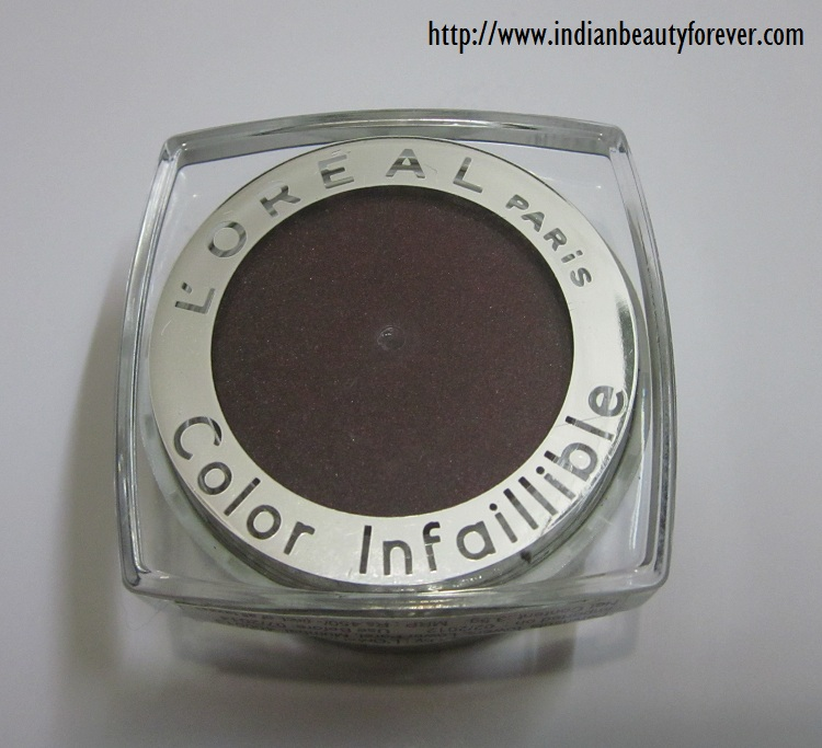 L'oreal infallible eyeshadow in burning black india