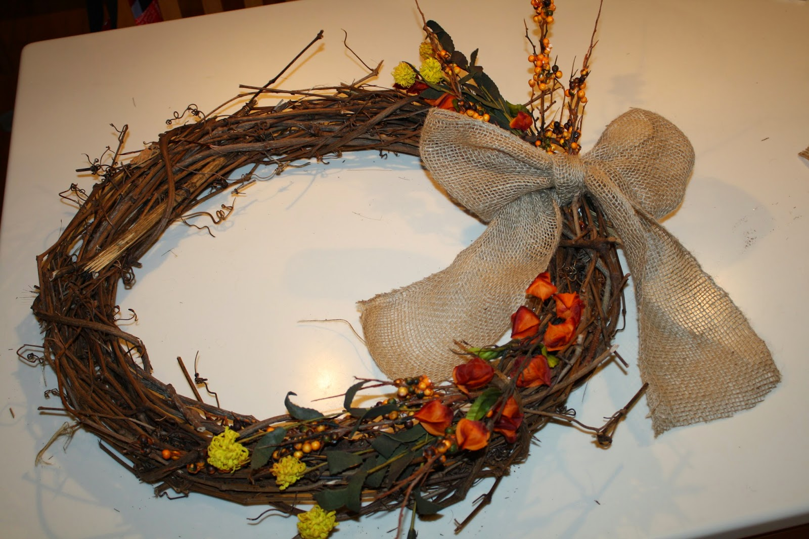 Easy Fall Monogram Wreath