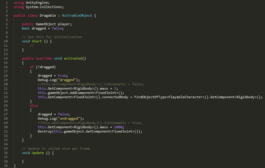Push and Pull Mechanism in Unity