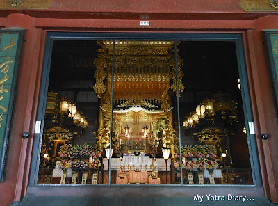 The altar in the main hall at the Sensoji Temple, Asakusa- Tokyo