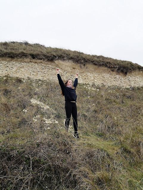 Tween girl climbing