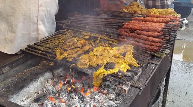Sheekh Kebab and Phaal at Barkat Mia's restaurant