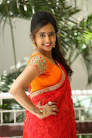 Lasya Cute Beauty in Saree Backless Choli at her Interview ~  Exclusive 073.JPG