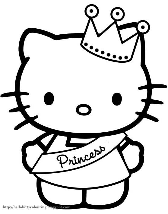 Hello kitty coloring pages for Coloring pages of hello kitty