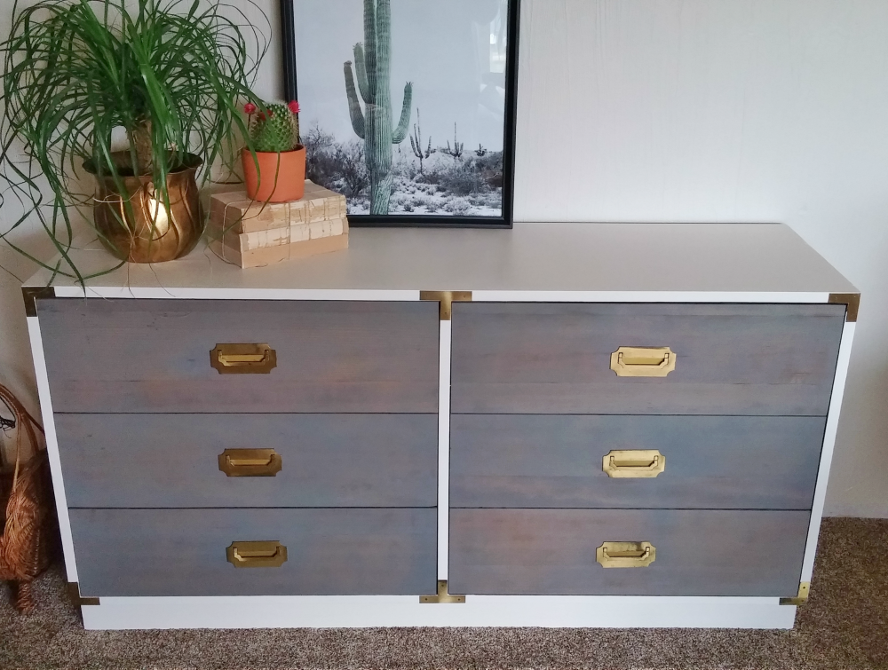 two-tone dresser