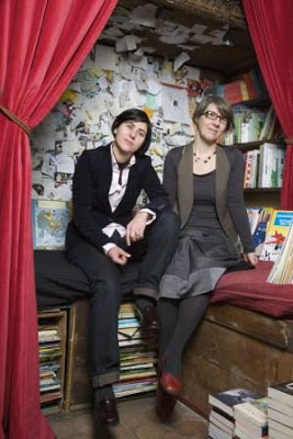 Cendrine Wolf and Anne Plichota, authors of Oksa Pollock