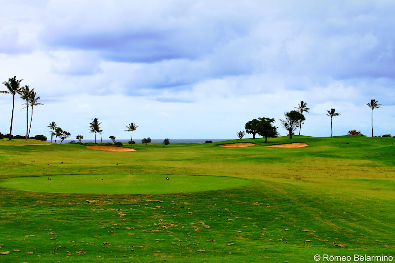 Kiele Mauna Hole 1 Kauai Lagoons Golf Club Hawaii