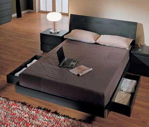 Tempat tidur minimalis laci