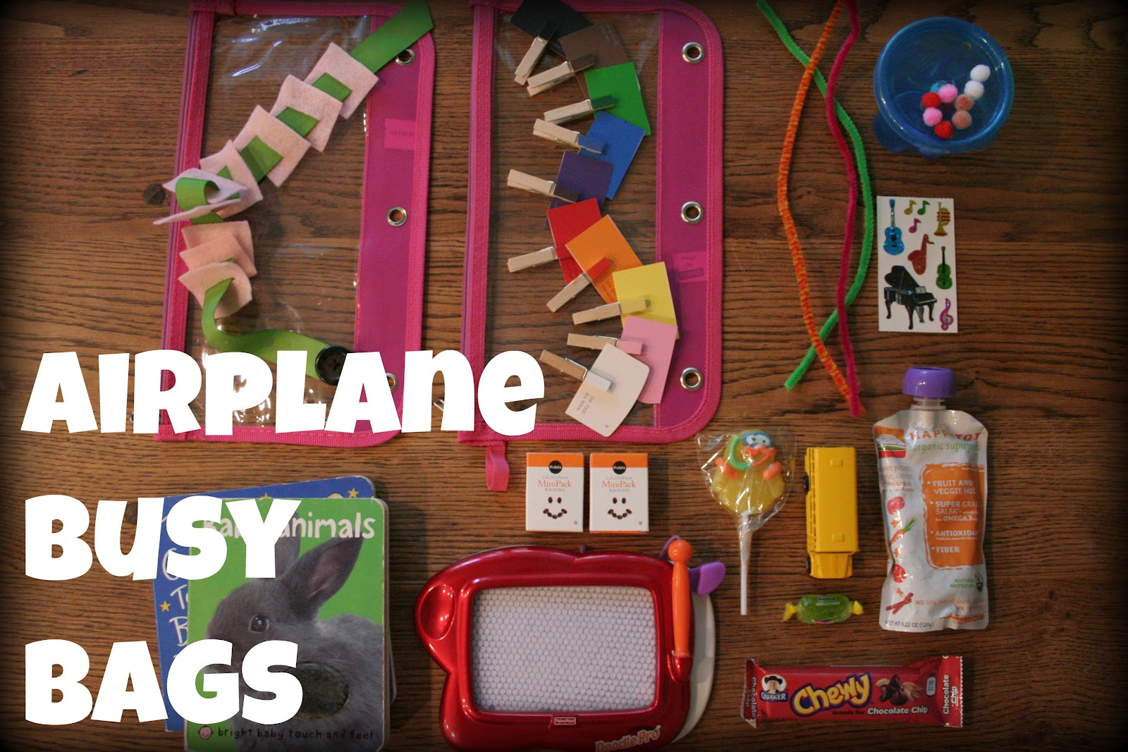 Katie Leipprandt Airplane Busy Bags For Toddlers