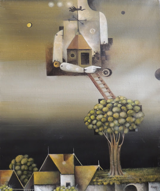 Eduard Alcoy cuadro surrealista paisaje
