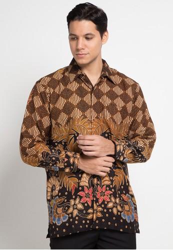Kemeja Panjang Batik Print