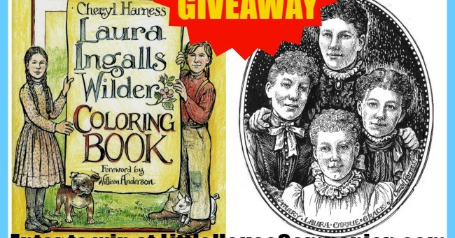 Little house companion giveaway laura ingalls wilder for Laura ingalls wilder coloring pages