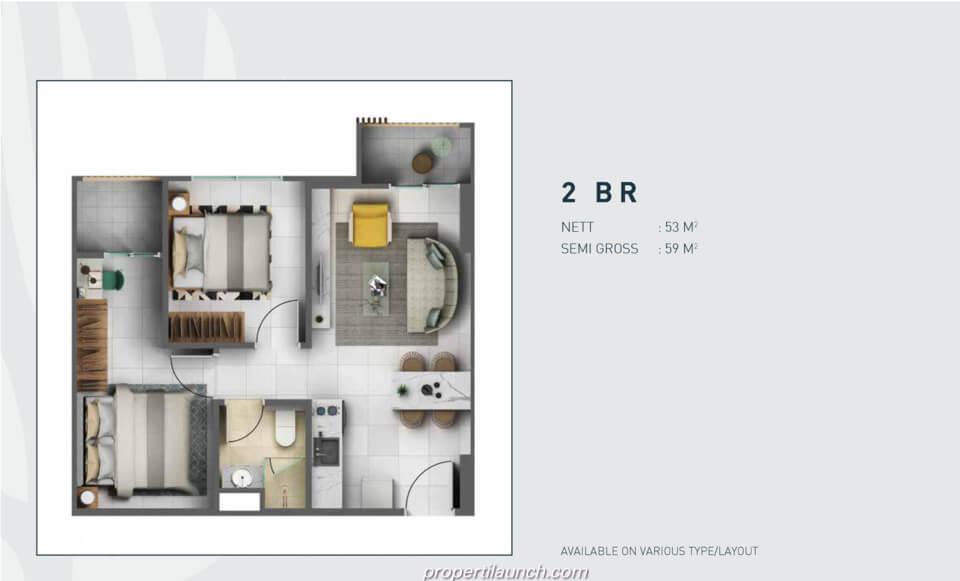 Tipe 2 Bedroom