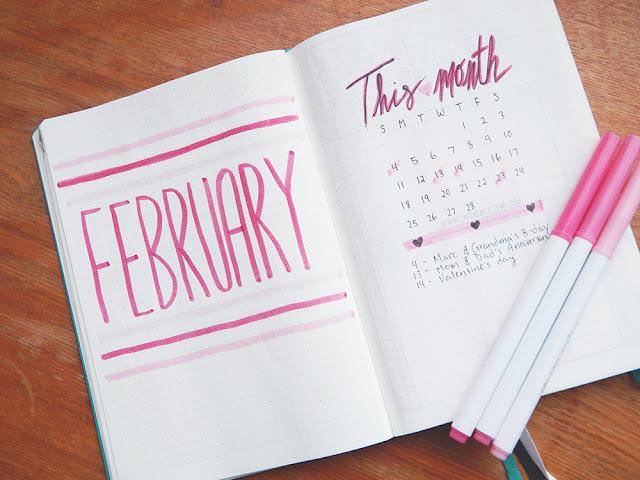 February 2017 Bullet Journal Set Up