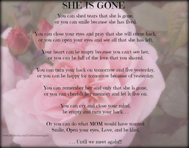 Loss of mother inspirational quotes poem images from daughter son