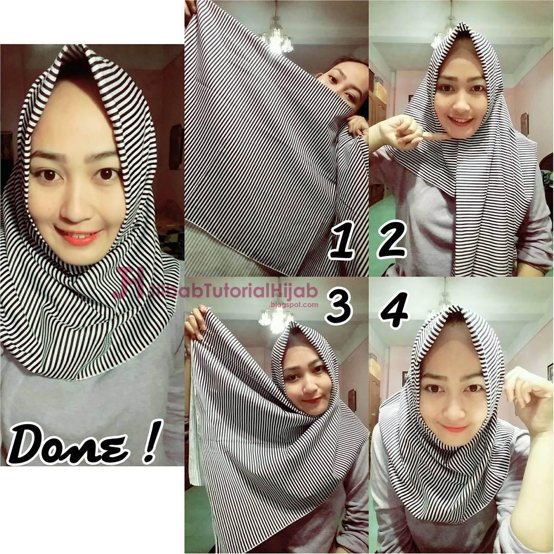 6 Cara Hijab Segi Empat Sederhana TUTORIAL HIJAB MODERN SYARI