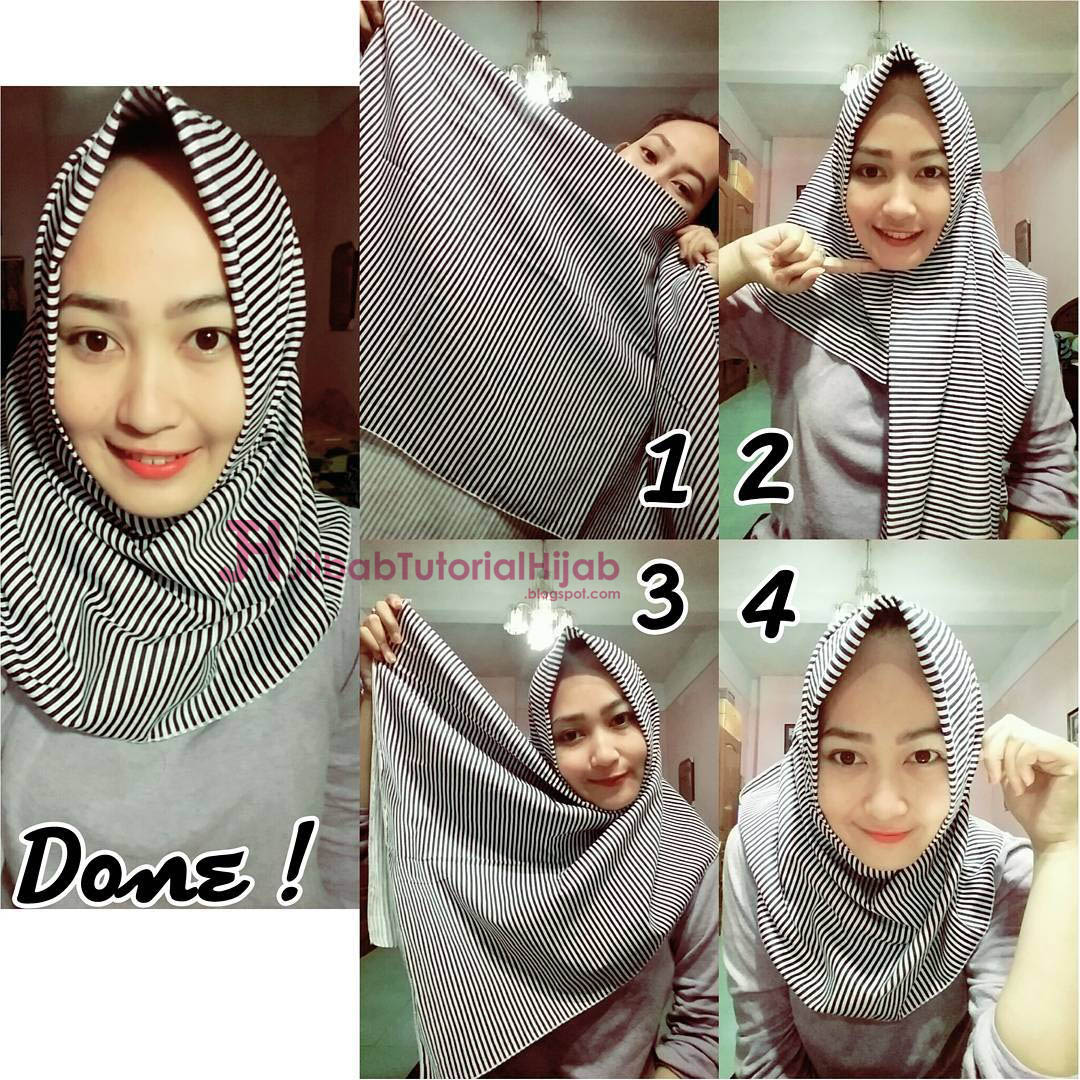 6 Cara Hijab Segi Empat Sederhana Jilbab Tutorial Hijab