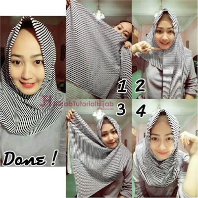 6 Tutorial Cara Memakai Hijab Segi Empat Sederhana Simple Terbaru