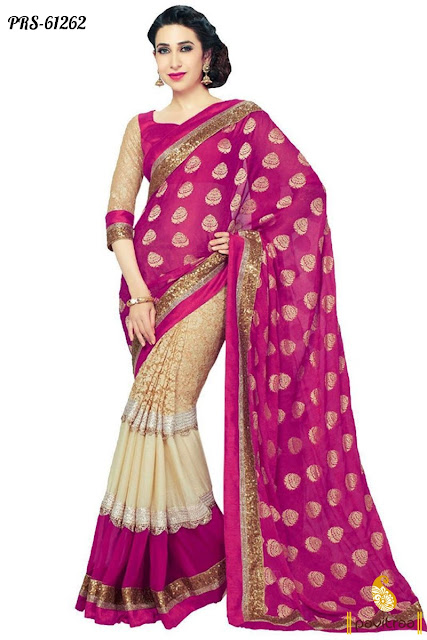 Latest Bollywood Heroin Karishma Kapoor Party Wear Saree In Discount Offer
