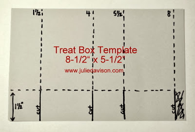 Half Sheet Treat Box Template by Julie Davison www.juliedavison.com