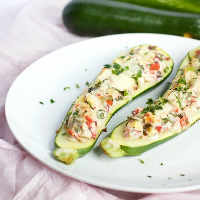 Greek veggie zucchini boats from 918 Plate; photo used with permission.