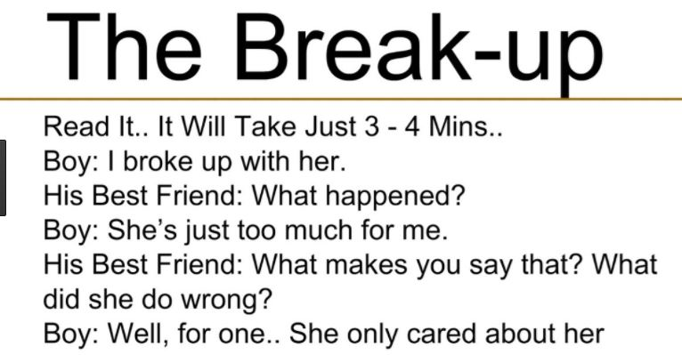 To Was I With Wrong Break Her Up