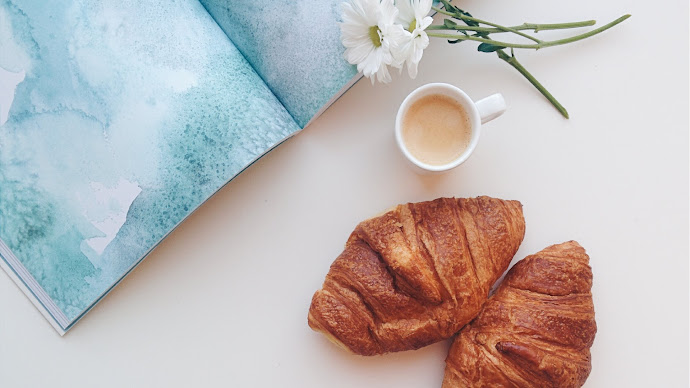 Wallpaper: A Snack with Coffee and Croissant