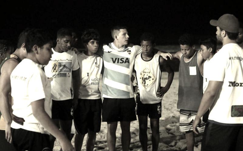 rugby solidario en Rio de Janeiro