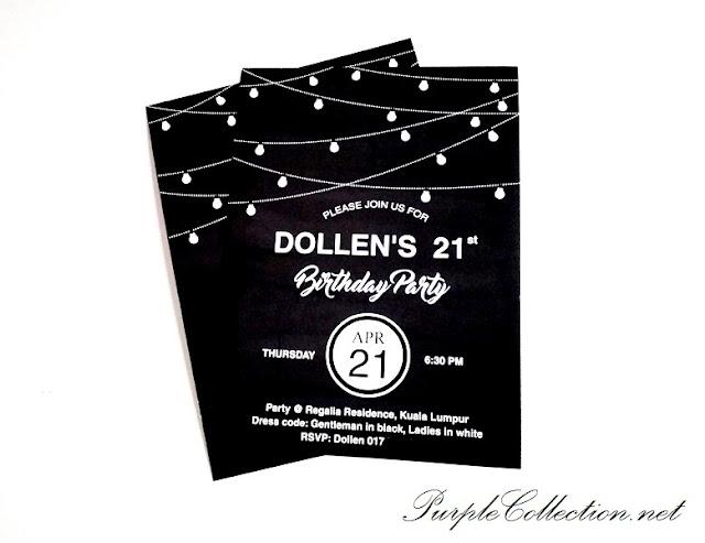 birthday invitation card printing malaysia, kuala lumpur, selangor, setapak, gombak, batu caves, penang, ipoh, perak, taiping, muar, kuala kangsar, sabah, sarawak, brunei, miri, tawau, sandakan, kuching, kota kinabalu, chalk board background, regalia residence, 21 birthday party card, hanging light bulb, black and white, minimalist, elegant, simple, nice, pretty, bash