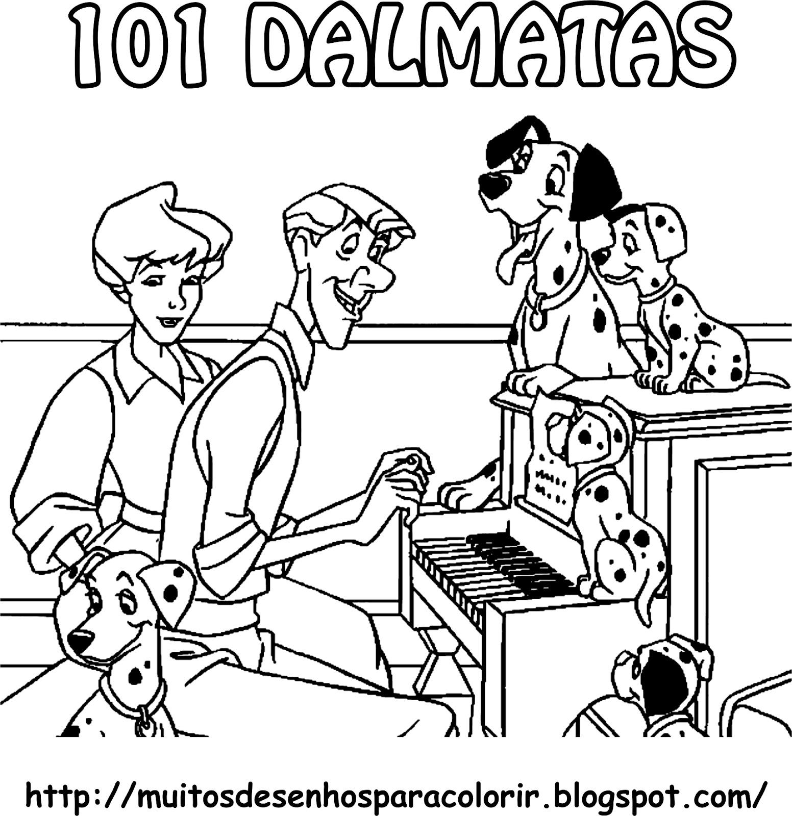 Desenhos Para Colorir: 101 Dalmatas