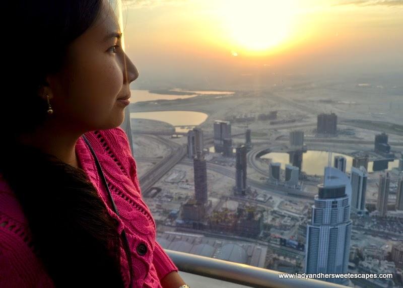 magic hour at Burj Khalifa