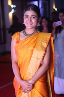 Shalini Pandey in Beautiful Orange Saree Sleeveless Blouse Choli ~  Exclusive Celebrities Galleries 056.JPG